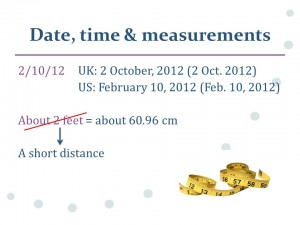 date, time & measurement for global audiences